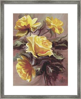 Summer Roses Framed Print by Ron Chambers