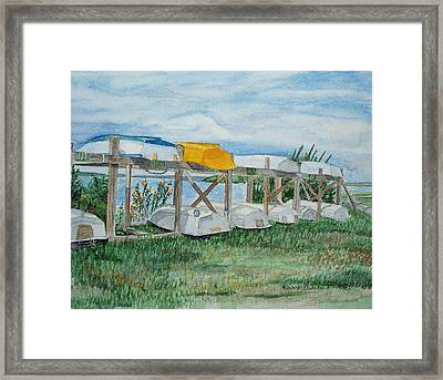 Summer Row Boats Framed Print