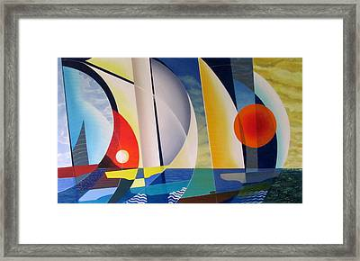 Framed Print featuring the painting Summer Sailing by Douglas Pike