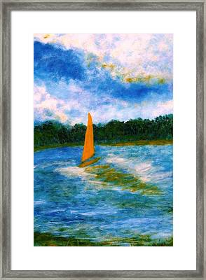 Framed Print featuring the painting Summer Sailing by John Scates