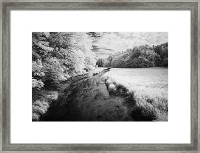 Summer Salt Marsh - Wells Maine Framed Print by Luke Moore