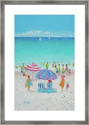 Summer Scene Diptych 1 Framed Print by Jan Matson