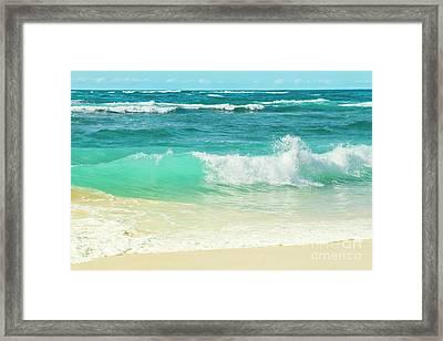 Summer Sea Framed Print by Sharon Mau