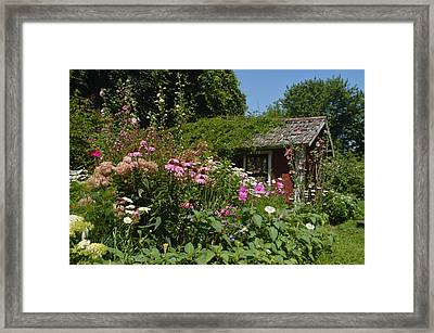 Summer Secret Garden Framed Print by Tina M Wenger