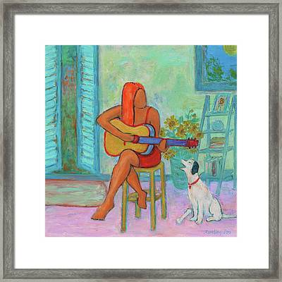 Framed Print featuring the painting Summer Serenade II by Xueling Zou
