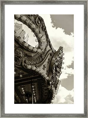 Summer Skies And Carousel Framed Print