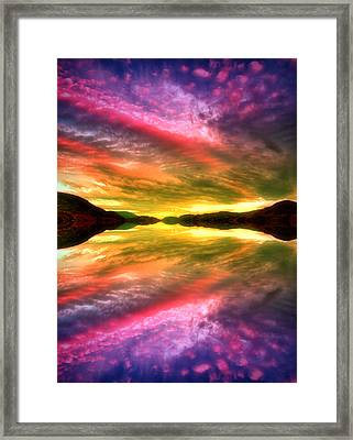 Summer Skies At Skaha Framed Print by Tara Turner