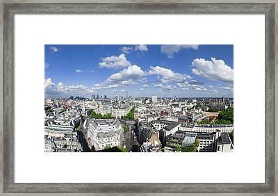 Summer Skies Over London Framed Print