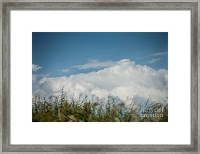 Framed Print featuring the photograph Summer Sky by Jan Bickerton