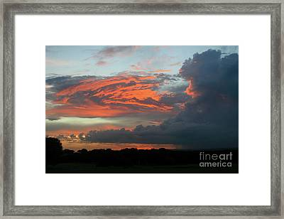 Summer Sky On Fire  Framed Print