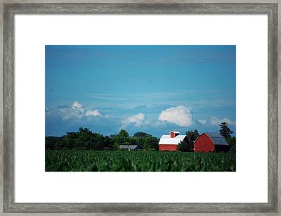 Summer Sky Summer Farm Framed Print by Jame Hayes