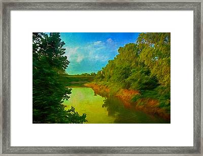 Summer Soft Morning Creek Framed Print