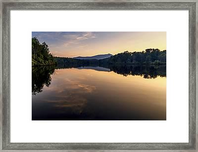 Price Lake Sunset - Blue Ridge Parkway Framed Print
