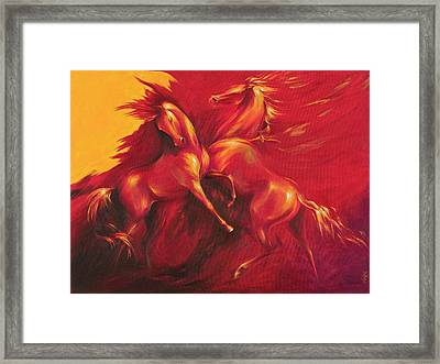 Framed Print featuring the painting Summer Solstice by Dina Dargo