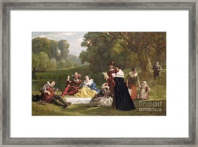 Summer Song Framed Print by Frederick Goodall