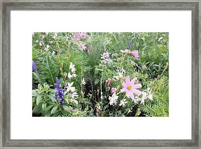 Framed Print featuring the digital art Summer Spray by Julian Perry