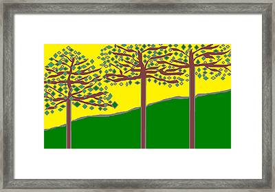 Summer Stained Glass 2 Framed Print by Linda Velasquez