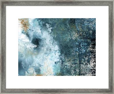 Summer Storm- Abstract Art By Linda Woods Framed Print