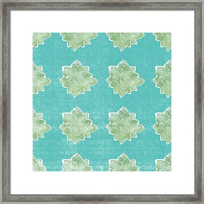 Summer Succulents- Art By Linda Woods Framed Print
