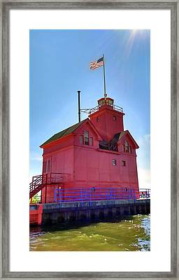 Framed Print featuring the photograph Summer Sun And Big Red by Michelle Calkins