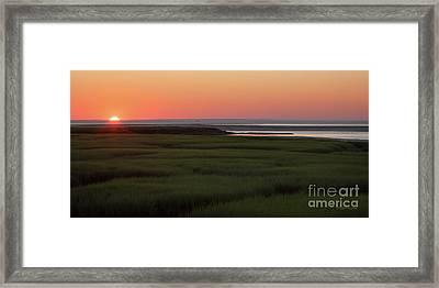 Summer Sun Down Framed Print
