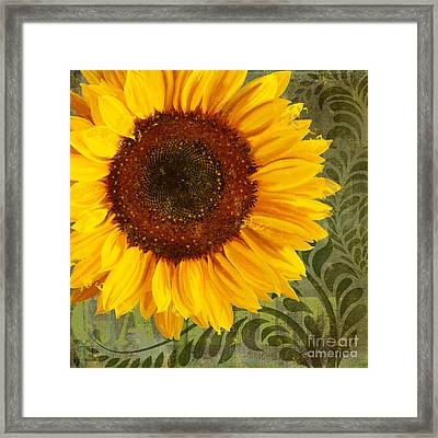 Summer Sun Verdant Afternoon Sunflower Garden Framed Print by Tina Lavoie