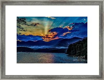 Summer Sundown Framed Print