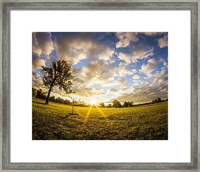 Summer Sunrise Across Delware Park Meadow Framed Print
