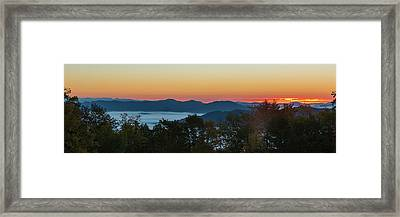Summer Sunrise - Almost Dawn Framed Print