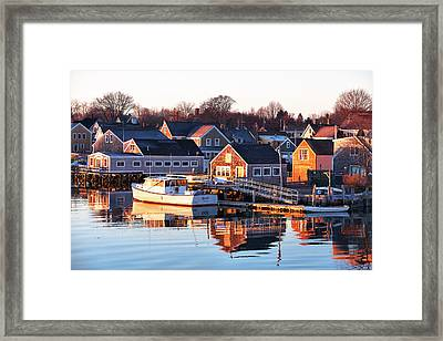 Summer Sunrise In Portsmouth Framed Print by Eric Gendron