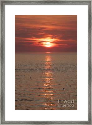 Summer Sunrise Rockport, Ma Framed Print