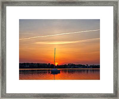 Summer Sunset At Anchor Framed Print
