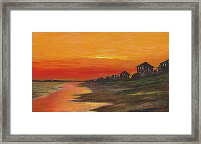 Summer Sunset At  Crystal Beach Framed Print
