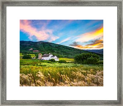 Summer Sunset At Park City Barn Framed Print