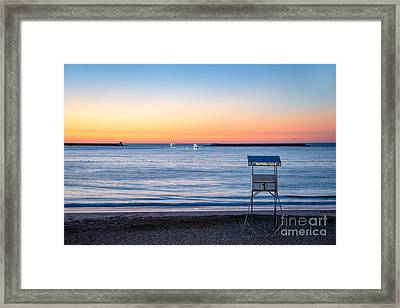Summer Sunset Framed Print by Delphimages Photo Creations