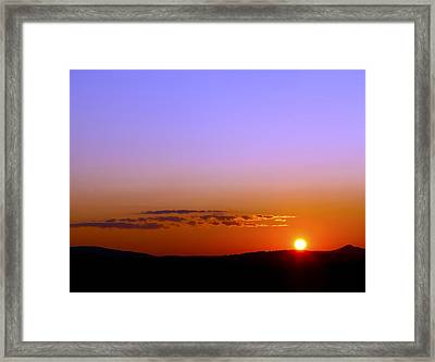 Framed Print featuring the photograph Summer Sunset by Gary Smith