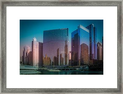 Summer Sunset In Chicago Downtown  Framed Print by Art Spectrum