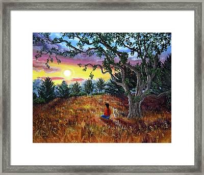 Summer Sunset Meditation Framed Print