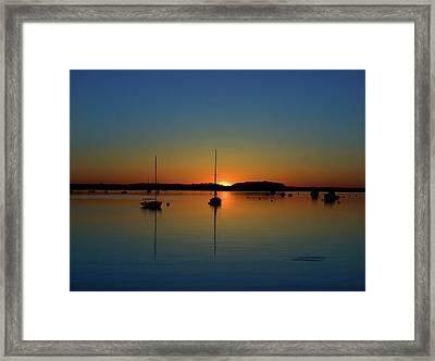 Summer Sunset Monument Beach Framed Print
