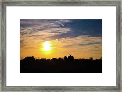 Summer Sunset On The Farm Framed Print