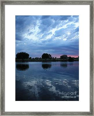 Summer Sunset On Yakima River 5 Framed Print by Carol Groenen