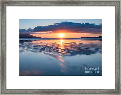 Summer Sunset Over Balnakeil Bay Framed Print by Janet Burdon