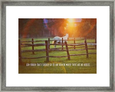 Summer Sunset Quote Framed Print by JAMART Photography