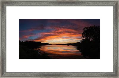 Summer Sunset Framed Print by Ron McGinnis