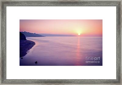 Summer Sunset Whitby Framed Print