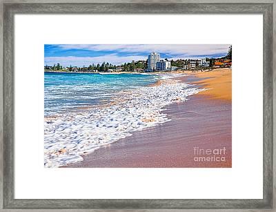 Summer Sunshine On The Waves Framed Print by Kaye Menner