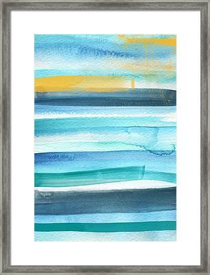 Summer Surf 2- Art By Linda Woods Framed Print