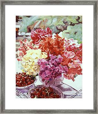 Summer Sweet Cherries Framed Print by David Lloyd Glover