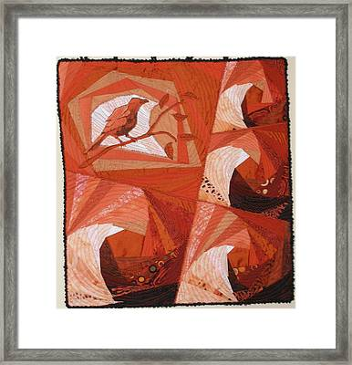 Summer Tanager Framed Print by Diane  DiMaria
