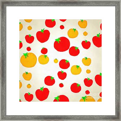 Summer Tomato Shower Framed Print